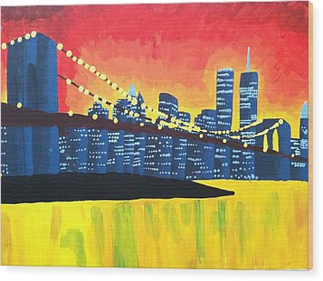 New York State Of Mind Wood Print by Tiffany King