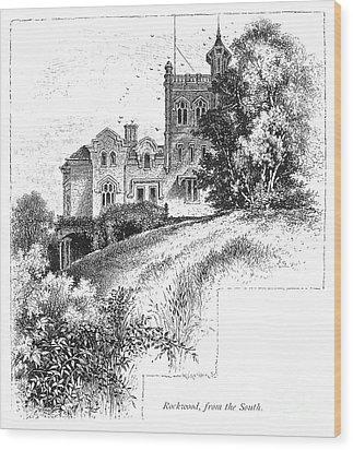 New York State: Villa Wood Print by Granger