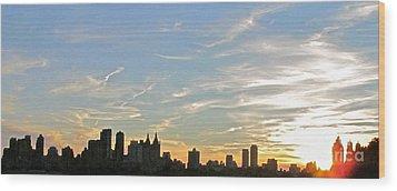 New York Sunset 2 Wood Print by Randi Shenkman