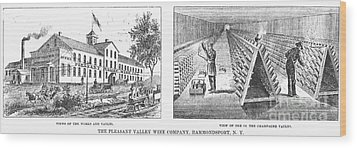 New York: Winery, 1878 Wood Print by Granger