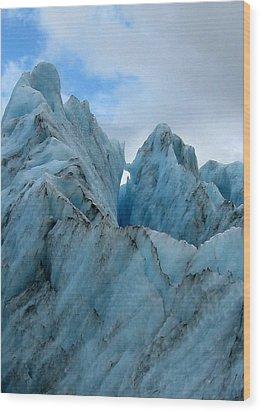 New Zealand Glacier Wood Print by JoAnne Rauschkolb