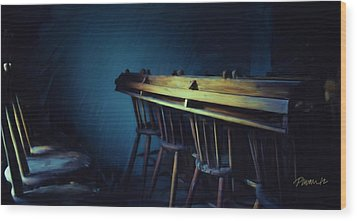 New Zealand Series - St. Ozwald's Choir Loft Wood Print