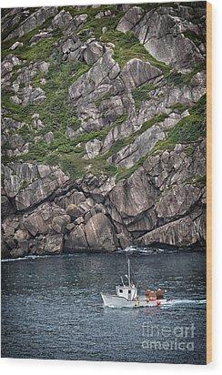 Newfoundland Fishing Boat Wood Print