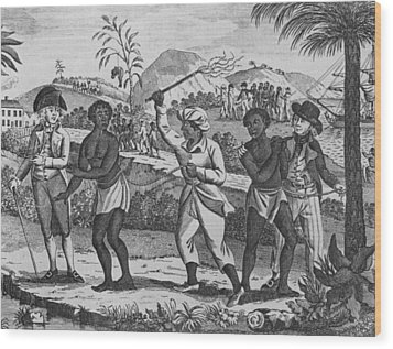 Newly Arrived African Captives Wood Print by Everett