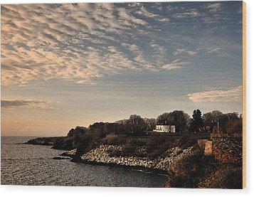 Wood Print featuring the photograph Newport Vibrant Morning by Nancy De Flon