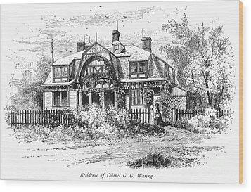 Newport: Villa, C1876 Wood Print by Granger