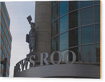 Wood Print featuring the photograph News Room by Stephanie Nuttall