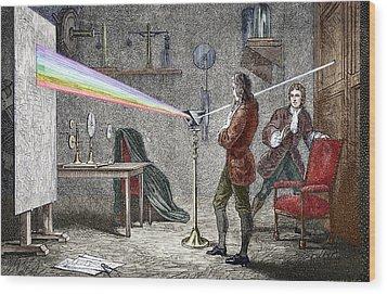 Newton's Optics Wood Print by Sheila Terry