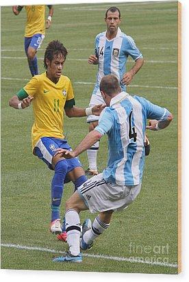 Neymar Doing His Thing IIi Wood Print by Lee Dos Santos