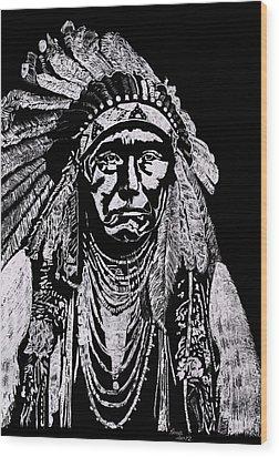 Nez Perce Wood Print by Jim Ross