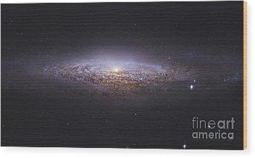 Ngc 2683, Unbarred Spiral Galaxy Wood Print by Robert Gendler