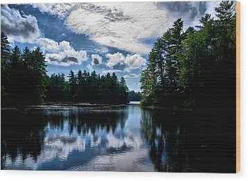 Wood Print featuring the photograph Nh Lake  by Edward Myers