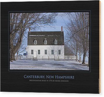Nh Meetinghouse Wood Print by Jim McDonald Photography