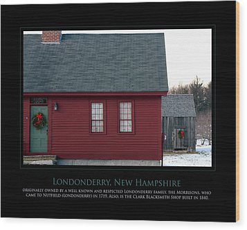 Nh Old Homes Wood Print by Jim McDonald Photography