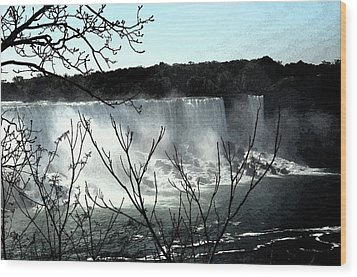 Wood Print featuring the photograph Niagar Falls by Pravine Chester