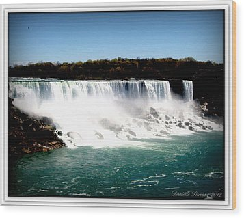 Wood Print featuring the photograph Niagara Falls The Canadian Side by Danielle  Parent