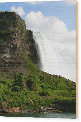 Wood Print featuring the photograph Niagara Falls Us Side by Mark J Seefeldt