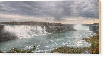 Wood Print featuring the photograph Niagara by Josef Pittner