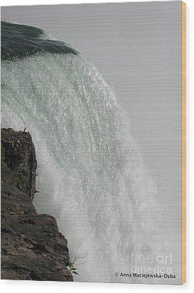 Niagara Waterfalls Wood Print by Anna Folkartanna Maciejewska-Dyba
