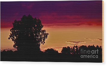Niagra Sunset Wood Print