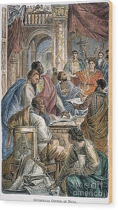 Nicaea Council, 325 A.d Wood Print by Granger