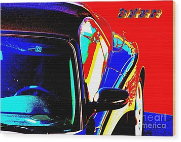 Wood Print featuring the mixed media Nice Car by Rogerio Mariani