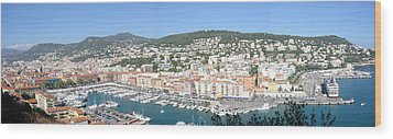 Wood Print featuring the photograph Nice Marina by David Grant