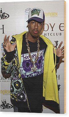 Nick Cannon At Arrivals For Nick Cannon Wood Print by Everett
