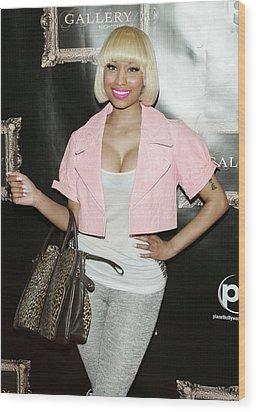 Nicki Minaj In Attendance Wood Print by Everett