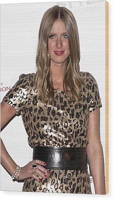 Nicky Hilton In Attendance For Launch Wood Print by Everett