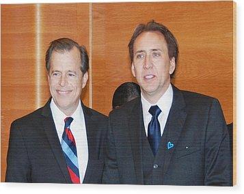 Nicolas Cage Goodwill Ambassador Wood Print by Everett