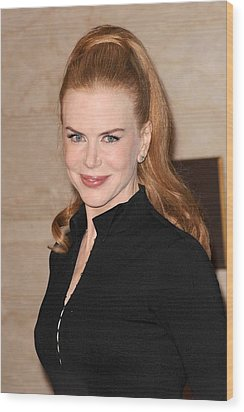 Nicole Kidman At In-store Appearance Wood Print by Everett