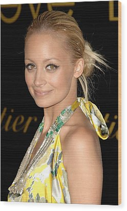 Nicole Richie Wearing A Dries Van Noten Wood Print by Everett