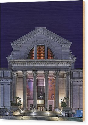 Night At The Museum Wood Print by Metro DC Photography