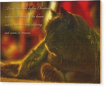 Night Before Christmas... Wood Print by Joann Vitali