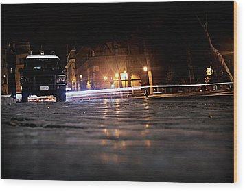 Night Cops Wood Print by Kevin Flynn