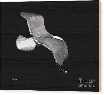 Night Flight Wood Print by Dale   Ford