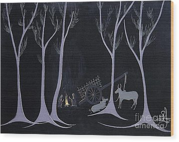 Night Halt Wood Print by Vilas Malankar