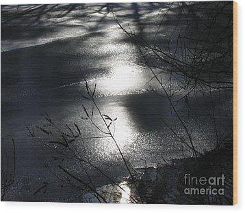 Night Lake Wood Print