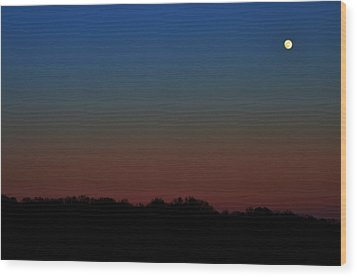 Wood Print featuring the photograph Night Light by Brian Stevens