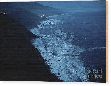 Night Magic In Big Sur Wood Print by Rossi Love