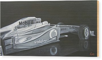 Night Race Wood Print