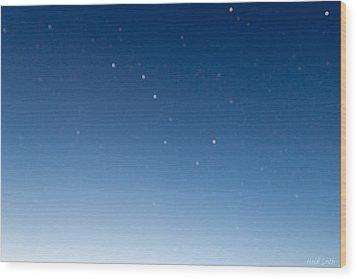 Night Sky Wood Print by Heidi Smith