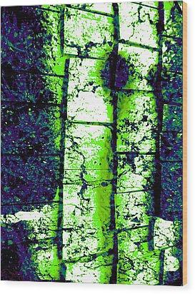 Night Terror Wood Print by Micheal Landers