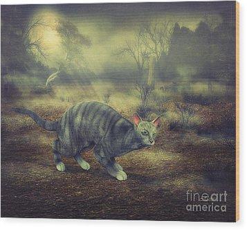 Night Walk Wood Print by Jutta Maria Pusl