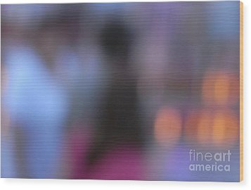 Wood Print featuring the photograph Imagine Nightfall At The Funfair by Andy Prendy