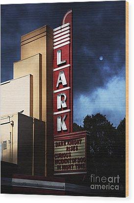 Nightfall At The Lark - Larkspur California - 5d18482 Wood Print by Wingsdomain Art and Photography