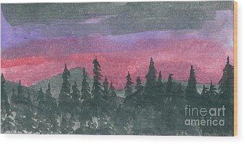 Nightfall Wood Print by R Kyllo