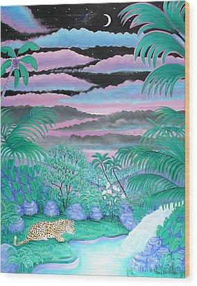 Nightfall Wood Print by Tracy Dennison