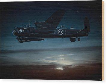Nightflight Wood Print by Chris Lord